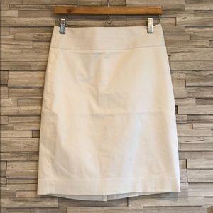 Banana Republic Lined, White, Pencil Skirt, Size 4